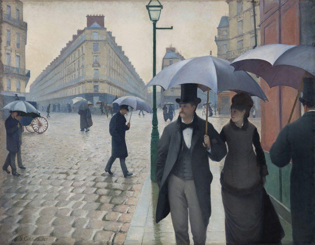 Парижская улица в дождливую погоду