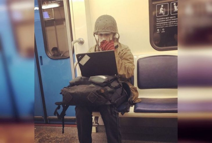 50 фото самых странных людей в метро